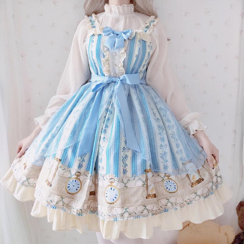 满160.00元可用1元优惠券萝莉塔裙子仙女洛丽塔洋装lolita日常全套正版原白菜价黑暗系星空