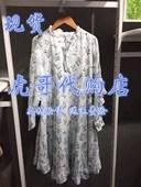 新款 甜美长袖 印花连衣裙女ICLL408A29 lagogo拉谷谷正品 2019秋季
