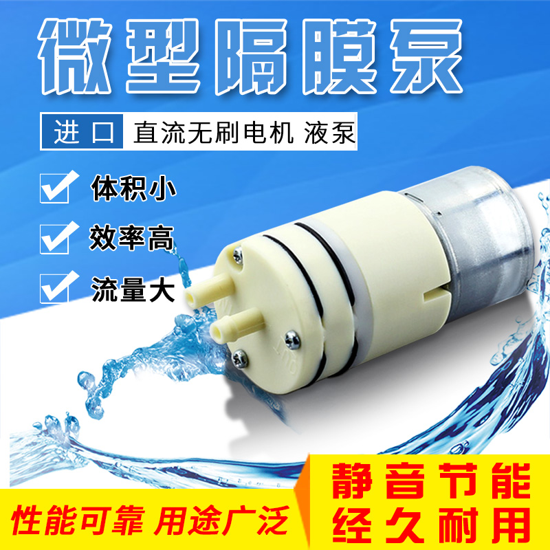 Micro diaphragm pump small water liquid pump speed control imported pharmaceutical experimental tooth washing machine 12v2v