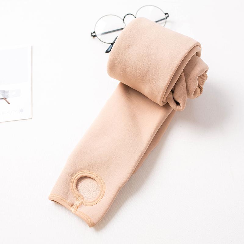 肉色打底裤女加绒加厚秋冬外穿肤色踩脚冬季光腿神器裸感保暖裤袜