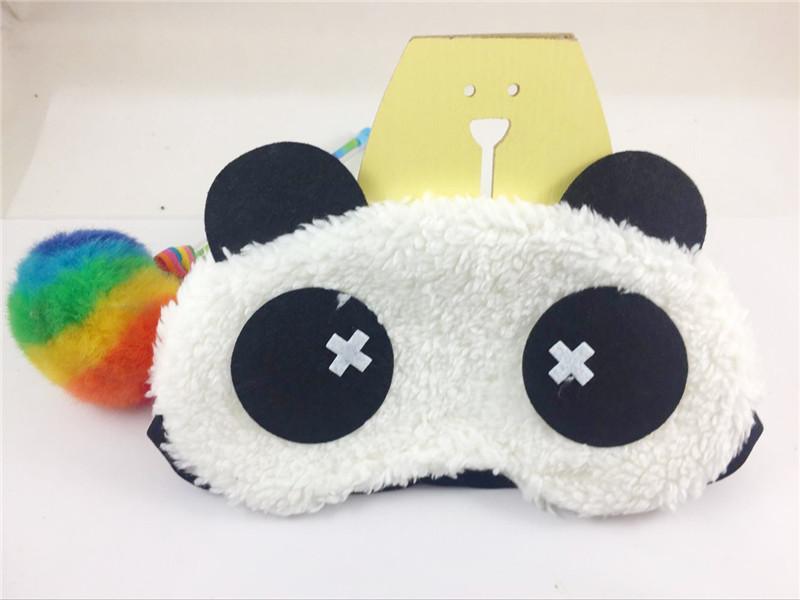 【第二件4.9】卡通可爱眼罩睡眠遮光熊猫舒适通用旅行