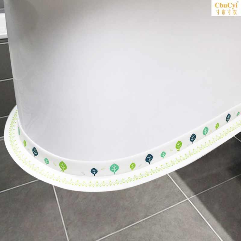 Toilet edge strip toilet waterproof around the edge of the paste on the edge of the paste under the edge of the paste