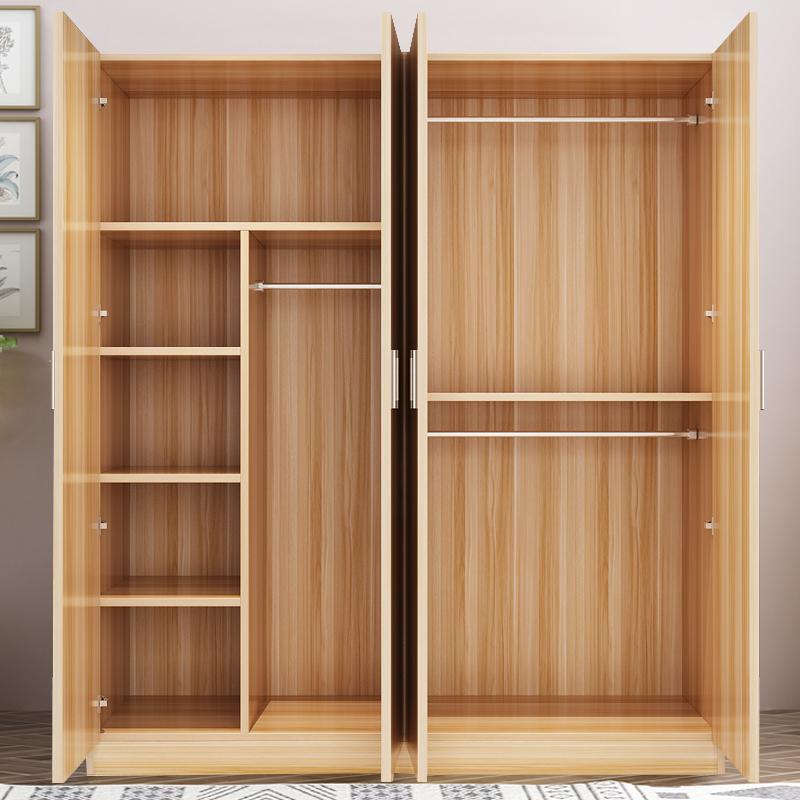 简易衣柜简约现代租房经济型儿童组装实木质板式大衣橱省空间24门