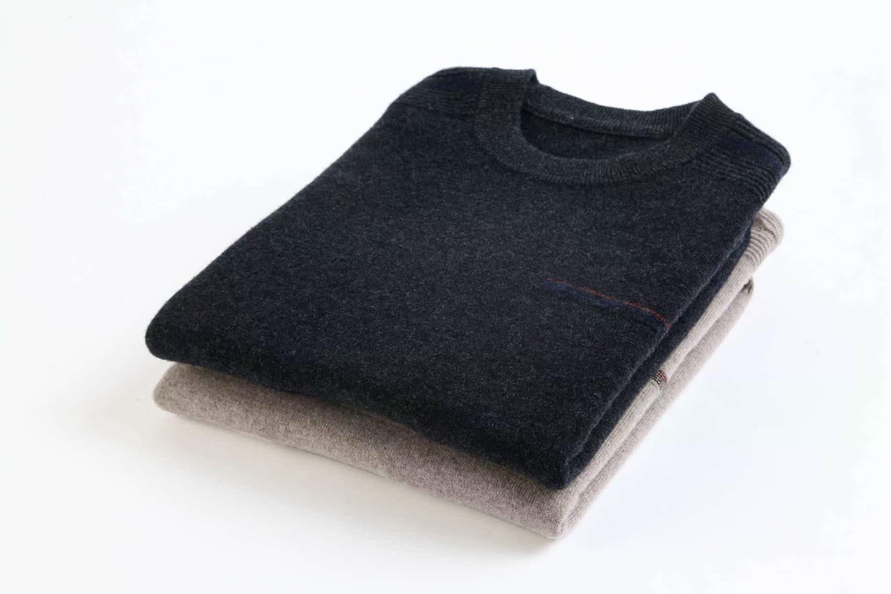 2019新款秋冬季中年男士超大码羊绒衫男胖子宽松加肥加大肥佬毛衣
