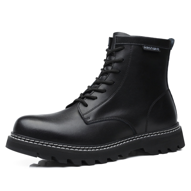 Martin boots, men's British fashion, all kinds of high top shoes, men's Black Medium work clothes, boots, men's large leather boots, men's leather