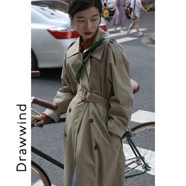 画风drawwind风衣2021新款中长款小个子英伦风气质流行韩版外套女
