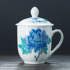 Creative Tea Cup with Lid Underglaze Multicolored Ceramic Cup Water Cup Office Gift Meeting Room Hotel Tea Cup