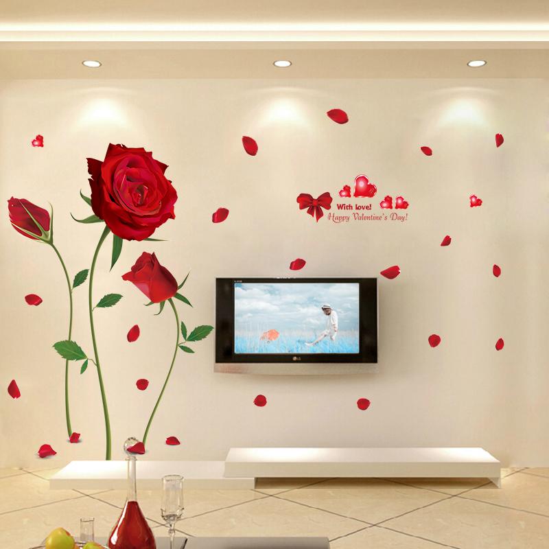 热销3件需要用券红玫瑰客厅电视背景墙餐厅卧室