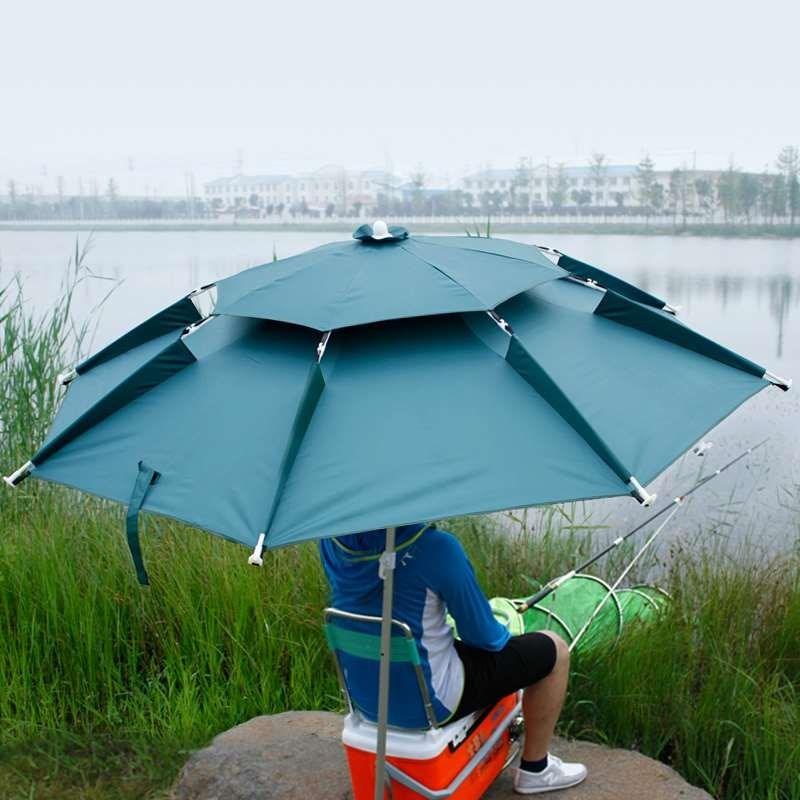短节二三折叠户外 2.2米双层太阳伞(非品牌)