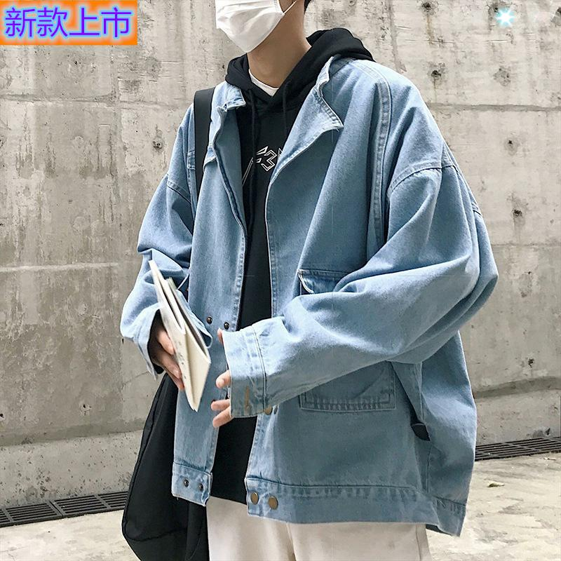Top grade authentic new spring mens jacket coat washed metal button four seasons solid color youth popular tourism