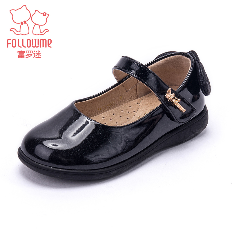 Girls' small leather shoes spring single shoes for middle and big children 2020 Princess Soft Sole girls' spring and autumn leather children's shoes