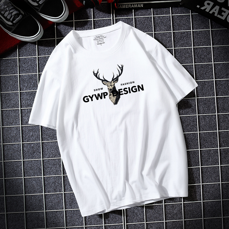 Mens short sleeve T-shirt 2020 summer new loose half sleeve T-shirt cotton round neck top bottoming shirt mens fashion