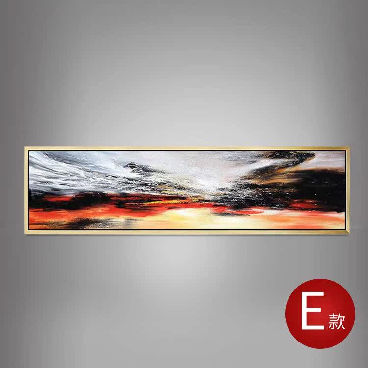 约抽象风景挂画客厅沙发背景装饰画纯手绘欧式画