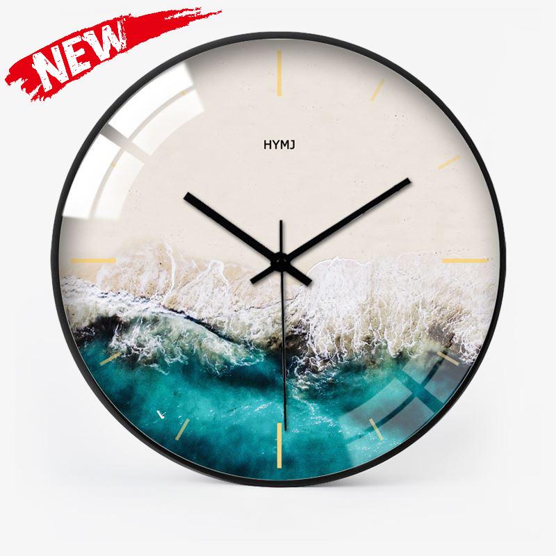 欧式个性创意时尚大钟表挂钟约客厅北欧静音石英钟时钟,可领取元淘宝优惠券