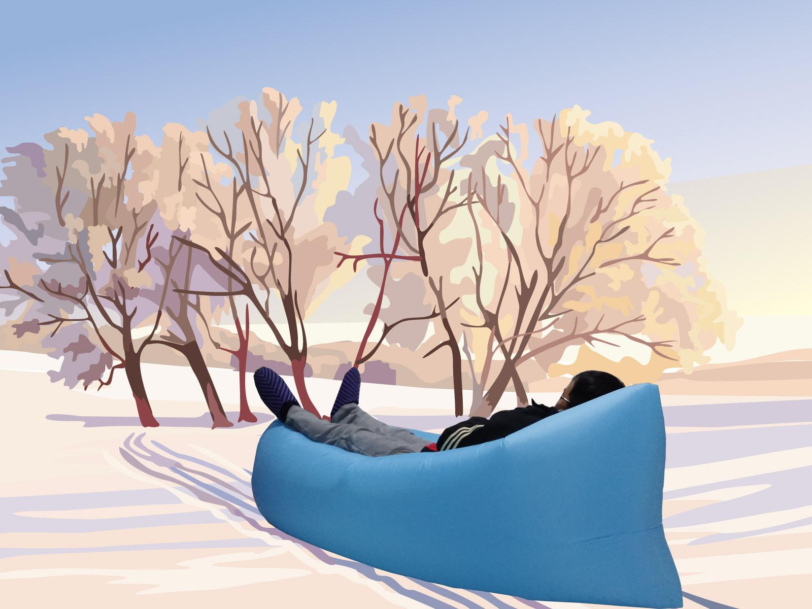 На открытом воздухе бездельник газированный диван - кровать один шезлонг воздушная подушка кровать портативный хранение воздух диван мешок