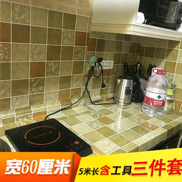 Кухня масло наклейки высокотемпературные фольга самоклеящийся керамическая плитка паста наклейки для стен геометрическом ламповая копоть кухня тайвань шкаф паста 5 метр