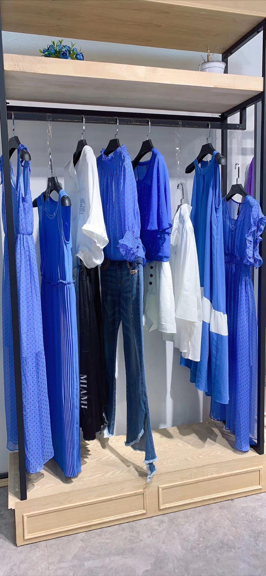 2020春夏女装百塔春季雪纺V领连衣裙 直播连衣裙女装一手货源拿货