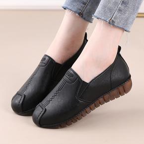 平底跳舞鞋妈妈鞋舒适防滑厨房鞋子孕妇鞋单鞋女牛筋底软底豆豆鞋