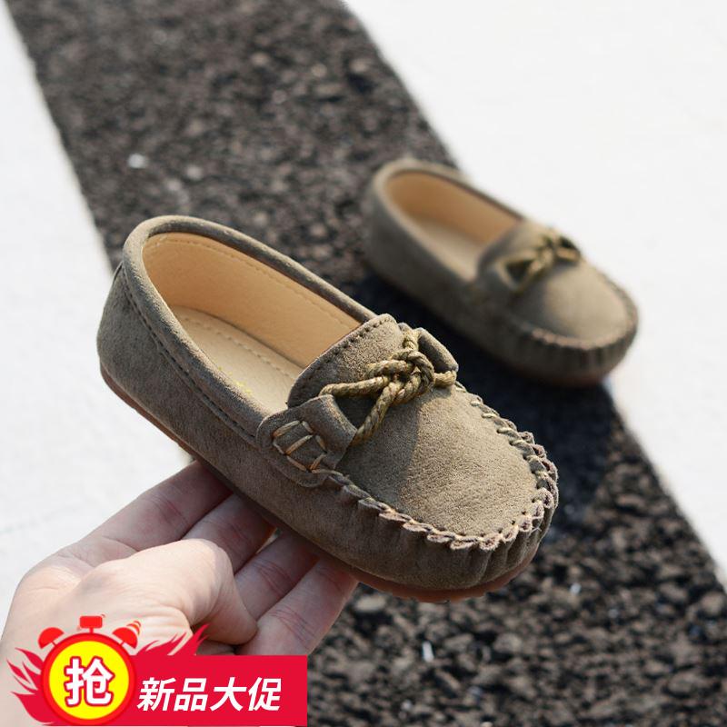 儿童男童2019皮鞋春季婴儿单鞋一脚蹬女童宝宝潮1-3岁新款,可领取元淘宝优惠券