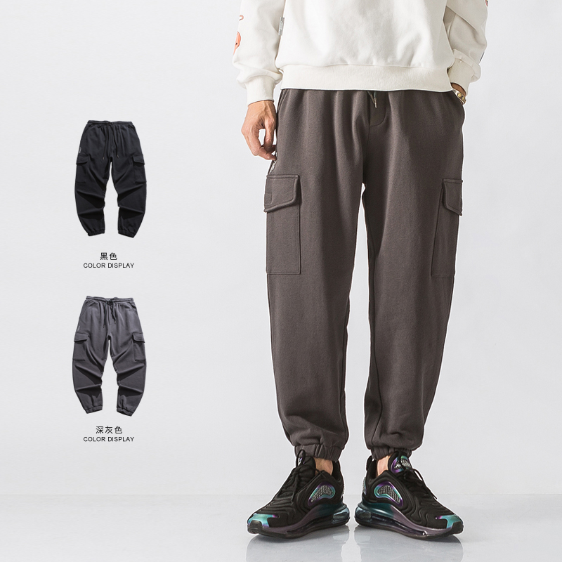 Main product: 320G two color label printing work clothes leggings, sports pants, Wei pants, jogging pants wk36-p65