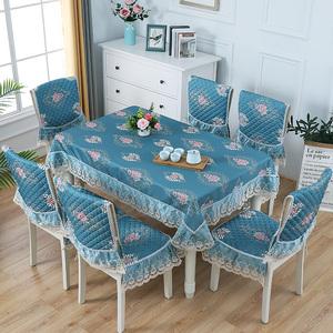 餐桌布椅套椅垫套装桌布布艺椅子套罩通用茶几餐椅套现代简约家用
