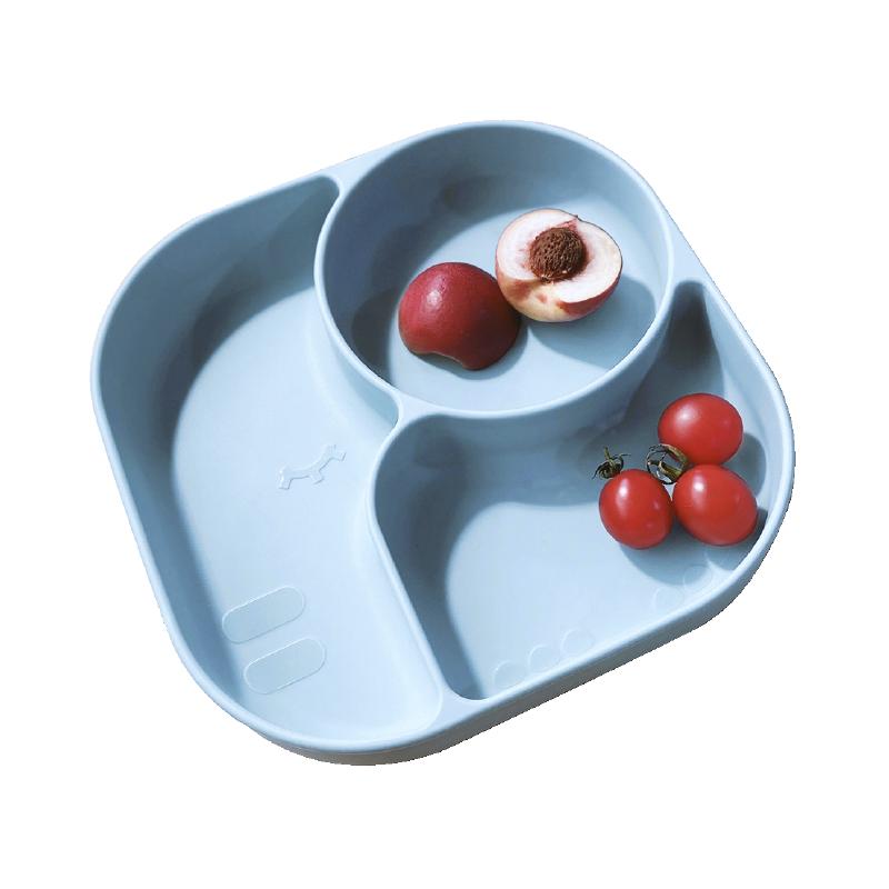 澳培宝宝餐盘分格盘婴儿学吃饭硅胶吸盘式辅食碗叉勺儿童餐具套装