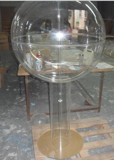 Завод сделанный на заказ акрил погалстук-бабочкаруг мяч акрил полушарие крышка полый мяч