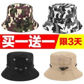 帽子男女遮阳盆帽装修防尘帽子户外防晒采茶帽可折叠钓鱼渔夫帽子