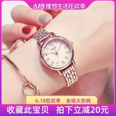 香港金米欧Kimio时尚气质小巧表盘链条女表学生腕表防水石英手表