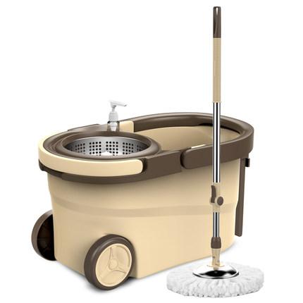 旋转拖把杆免手洗家用一拖净墩布桶