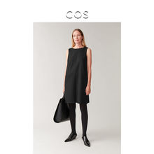 Cos women's wool blended Sleeveless Dress Black autumn winter 2019 new product 0807512001