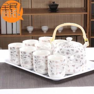 特价大号提梁壶茶具套装家用陶瓷青花瓷茶壶茶杯整套托盘功夫茶具