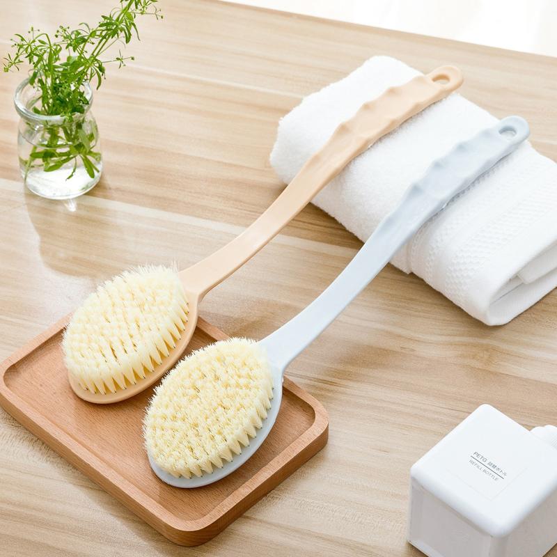 搓澡神器洗澡刷子成人长柄强力软毛沐浴刷搓泥按摩清洁刷搓背日本
