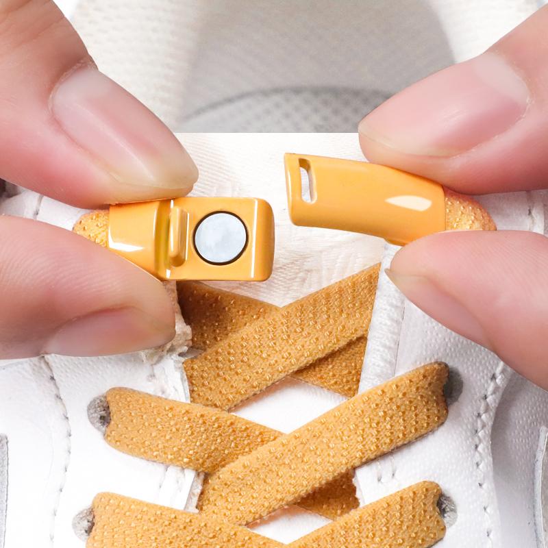 懒人鞋带扣男女免系松紧弹力儿童小白鞋免绑鞋带固定器扁平鞋带绳