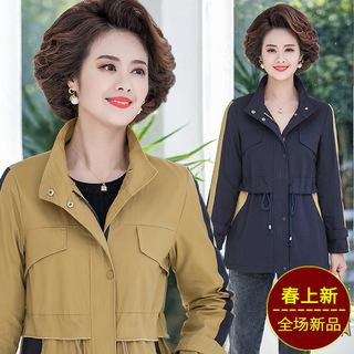 中老年女装春装高贵气质风衣中年女春秋夹克上衣大码妈妈舂装外套