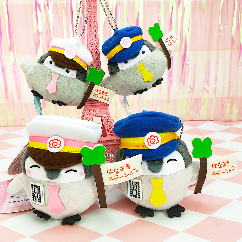Japans popular new positive energy Penguin Tokyo Station Limited Plush Doll pendant bag hanging ornament cute