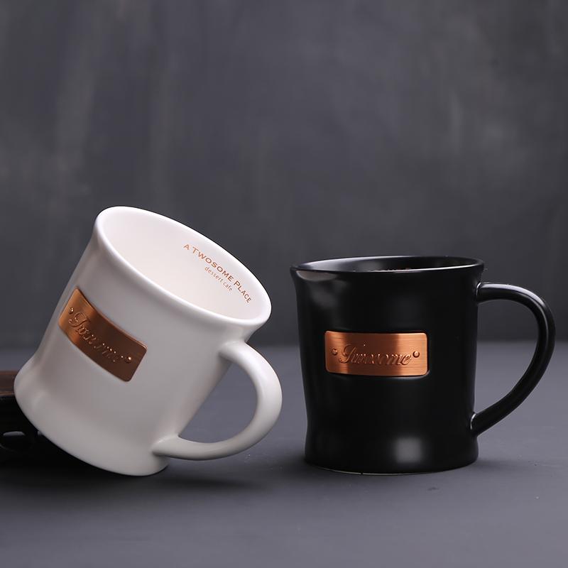 尚雍定制LOGO大容量陶瓷马克咖啡水杯子情侣早餐牛奶对杯办公企业