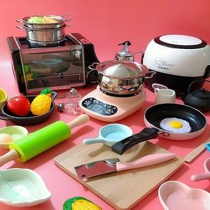 迷你厨房可真煮全套儿童做饭女孩玩具套装网红食玩真实烹饪小厨具