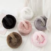 Korean foldable earmuffs for women in autumn and winter