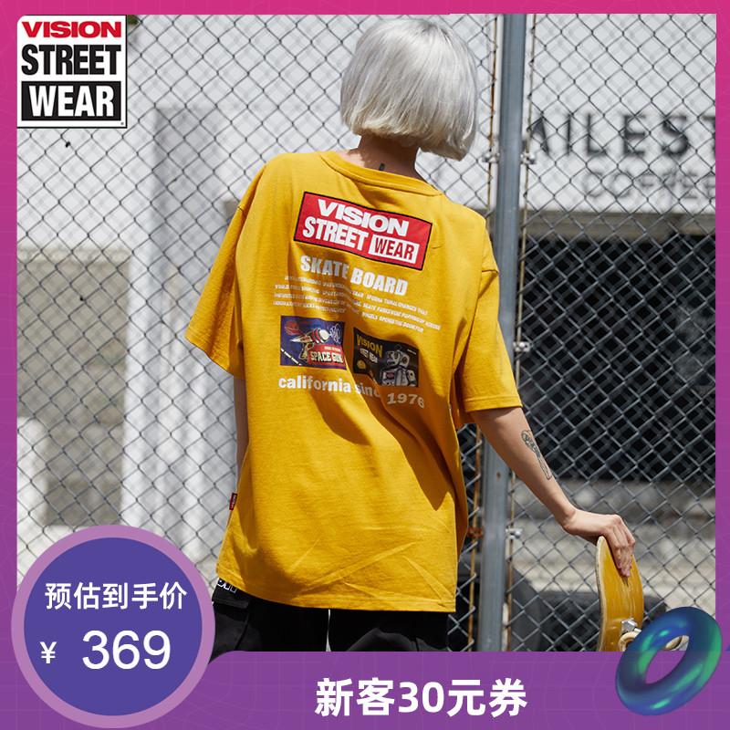 VISION STREET WEAR2019新款科幻主题印花男女同款T恤V193NC1003