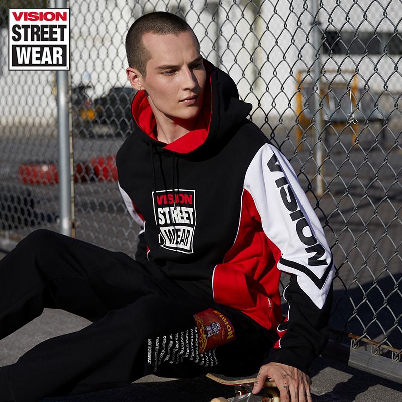 VISION STREET WEAR2019新款品牌LOGO印花衛衣男衛衣女V193NB4065