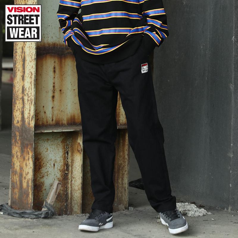 VISION STREET WEAR2019新款品牌LOGO印花梭織長褲男V193MD1026