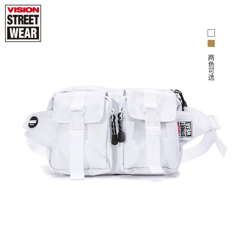 VISION STREET WEAR 街頭簡約logo胸包 滑板背包