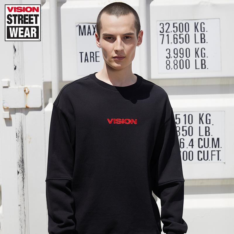 VISION STREET WEAR2019新款科幻主題印花情侶衛衣男女V193NB1014