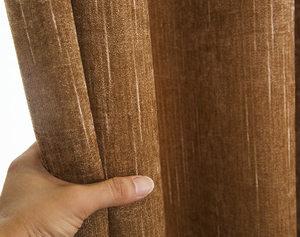 现代简约素色雪尼尔提花窗帘布卧室遮光布艺窗帘布料厂家直销