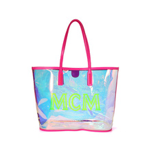 MCM 2020 new women's Bag Tote Bag magic color transparent rainbow shopping bag hand-held single shoulder bag mother bag