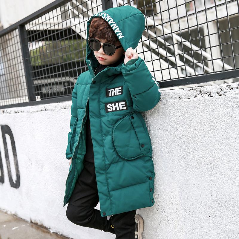 儿童冬装2018新款男韩版中长款棉袄羽绒服宝宝加厚冬季棉衣服外套