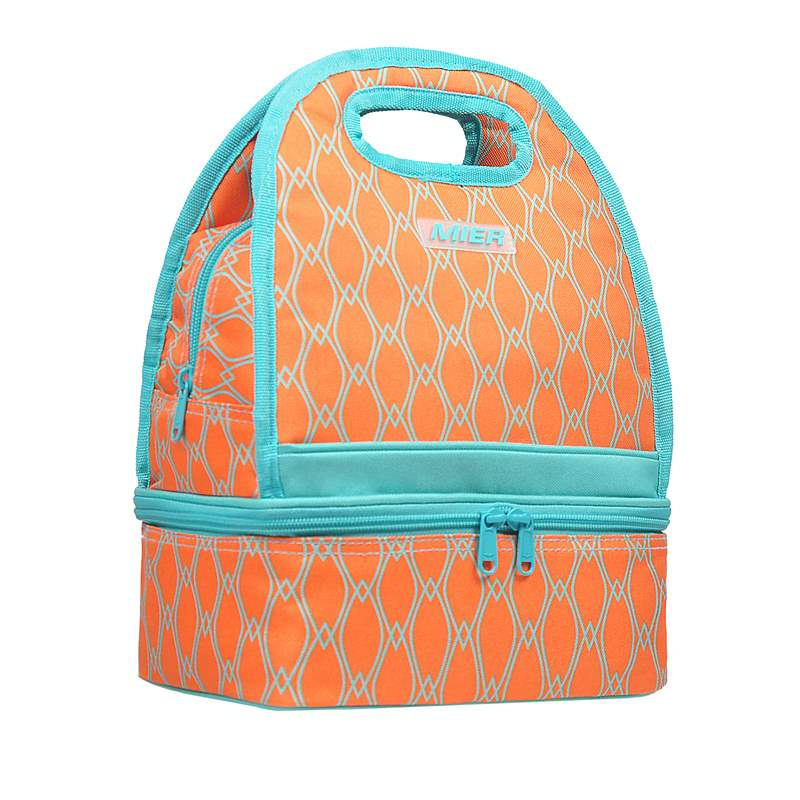 Western style lunch box handbag womens thickened double-layer thermal insulation bag to keep cool fashion lunch bag to work waterproof lunch bag to go out