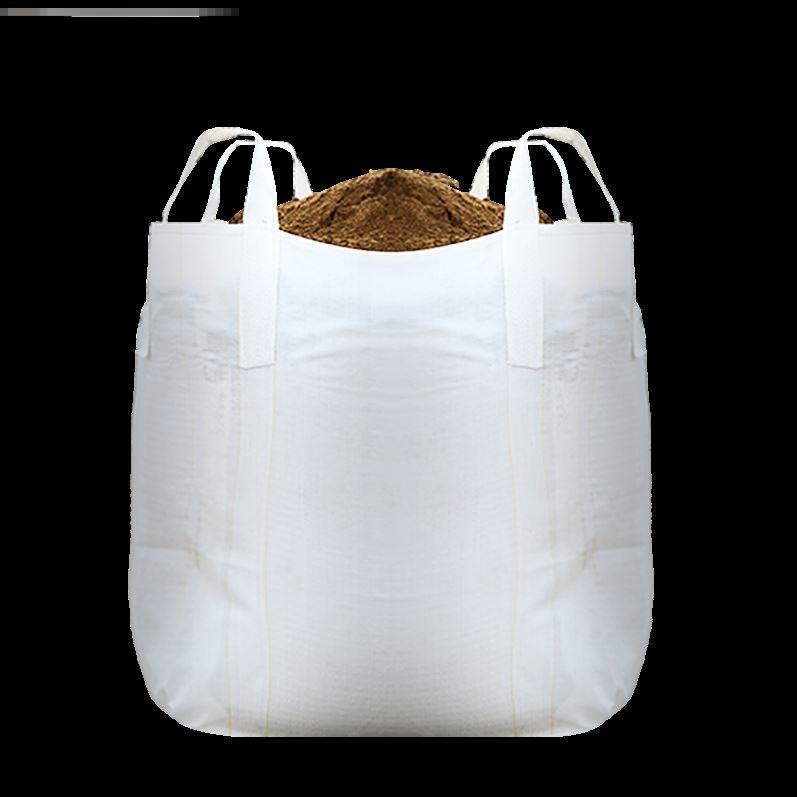 白色污泥打包袋吨包袋工业大开口袋子叉车搬家太空袋吨袋吊袋大号
