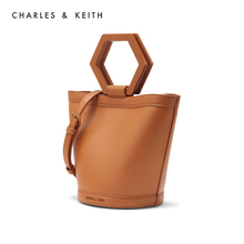 Charles & keith2020 spring new product ck2-10671117 geometric handle decorated with single shoulder bucket bag for women